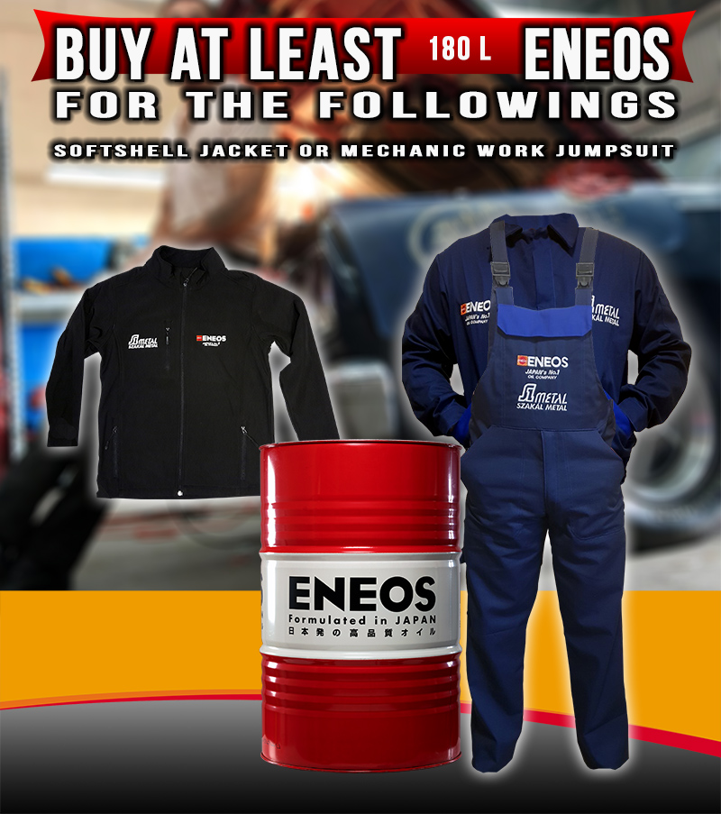 ENEOS Sales: gift jacket or Jumpsuit